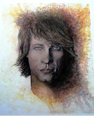 Rock Stars Painting - Blaze Of Glory by William Walts
