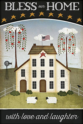 Bless Our Home Print by Jennifer Pugh
