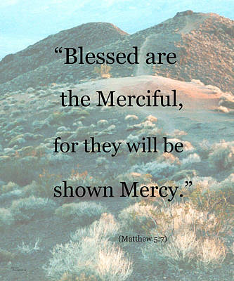Blessed Are The Merciful Print by Patricia Januszkiewicz
