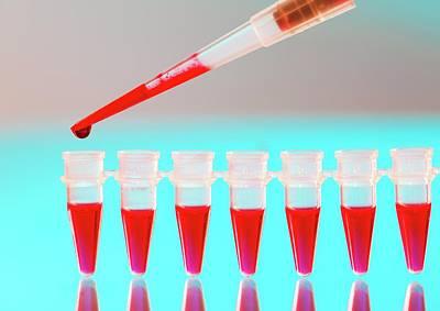 Blood Testing Print by Wladimir Bulgar