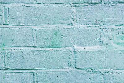 Blue Brick Wall Print by Tom Gowanlock