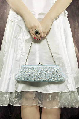 Blue Handbag Print by Joana Kruse