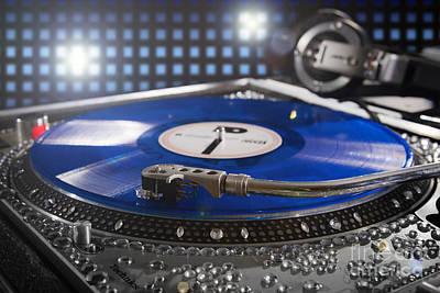 Blue Vinyl  Print by Jt PhotoDesign