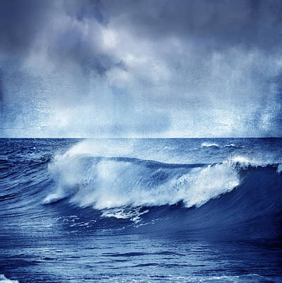 Blue Wave Print by Guido Montanes Castillo