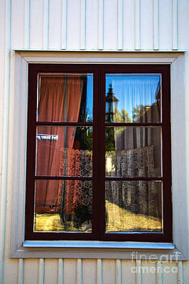 Orebro Photograph - Blue Window by Rick Bragan
