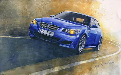 2006 Painting - Bmw M5 2006  by Yuriy Shevchuk