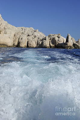 Photograph - Boat Wake By Riou Island by Sami Sarkis