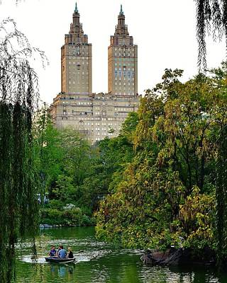 Manhattan Photograph - Boating Central Park by David Lobos