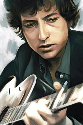 Bob Dylan Artwork Print by Sheraz A