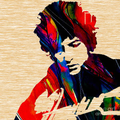 Bob Dylan Collection Print by Marvin Blaine