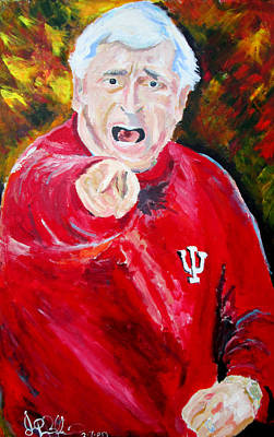 Painting - Bobby Knight  by Jon Baldwin  Art