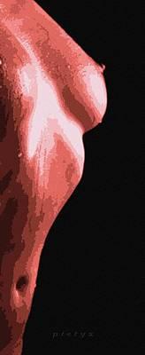 Body Waves 1 Print by Piety Dsilva
