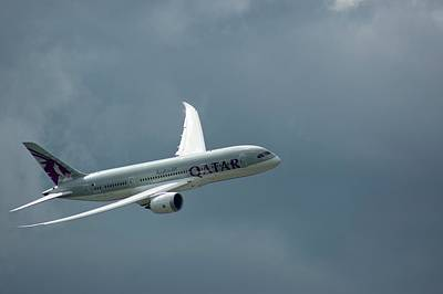 Qatar Photograph - Boeing 787 Dreamliner by Mark Williamson
