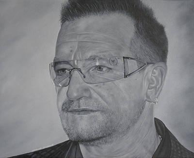 U2 Painting - Bono by David Dunne