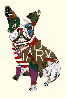 Dog Artist Digital Art - Boston Bulldog  by Bri B