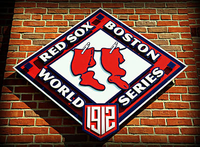 Fenway Park Photograph - Boston Red Sox 1912 World Champions by Stephen Stookey