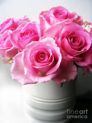 Floral Photograph - Bouquet Of Pink Roses by Nina Ficur Feenan