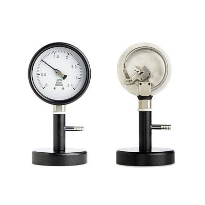 Static Photograph - Bourdon Pressure Gauge by Science Photo Library
