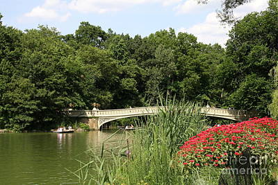 Bow Bridge Over The Lake Print by Christiane Schulze Art And Photography