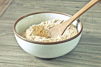 Basic Photograph - Bowl Of Flour by Tom Gowanlock