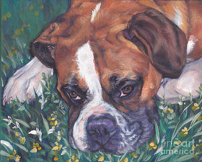 Boxer Print by Lee Ann Shepard