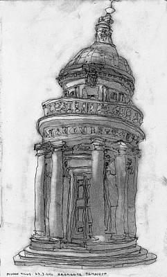 Bramante Tempietto Sketch Print by Mikko Tilus