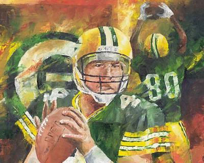 Sport Oil Painting - Brett Favre by Christiaan Bekker