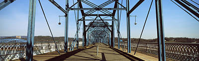 Bridge Across A River, Walnut Street Print by Panoramic Images