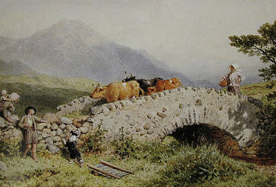 Myles Birket Foster Digital Art - Bridge Near Dalmally by Myles Birket Foster