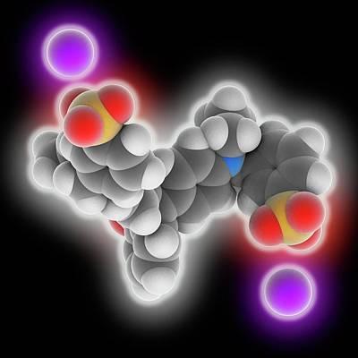 Brilliant Blue Fcf Molecule Print by Laguna Design