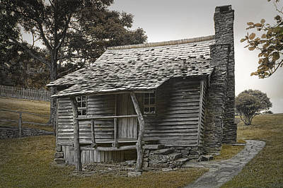 Log Cabin Photograph - Brinegar Cabin In The Blue Ridge Parkway by Randall Nyhof