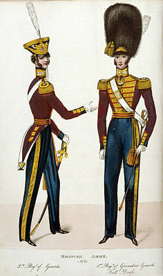 British Army Uniforms Print by British Library
