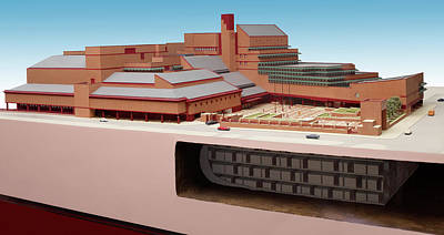 Library Photograph - British Library St. Pancras Model by British Library