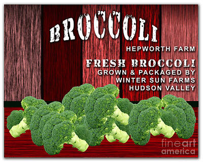 Broccoli Mixed Media - Broccoli Farm by Marvin Blaine