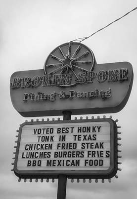 Dining Hall Photograph - Broken Spoke Honky Tonk by Mountain Dreams