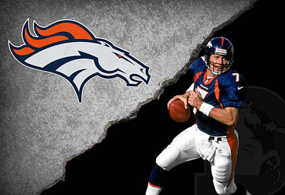 Broncos John Elway Print by Joe Hamilton