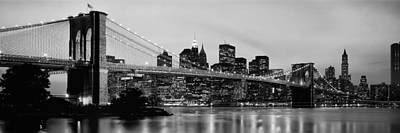 White River Scene Photograph - Brooklyn Bridge Across The East River by Panoramic Images