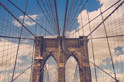 Brooklyn Bridge Print by Diane Diederich