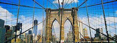Brooklyn Bridge With Freedom Tower, New Print by Panoramic Images