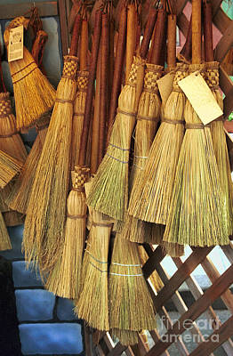 Brooms For Sale Print by David Smith