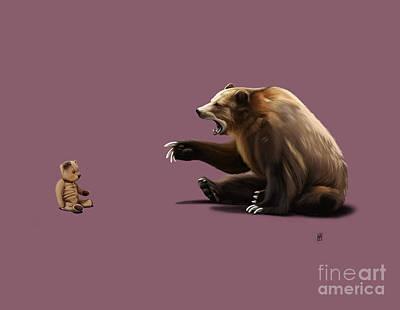 Teddy Bear Mixed Media - Brunt Colour by Rob Snow