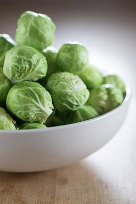 Brussels Sprouts In Bowl Print by Aberration Films Ltd