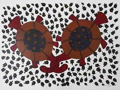 Gond Tribal Art Painting - Bs 54 by Bhajju Shyam