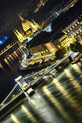 Budapest Sightseeing Tours Photograph - Budapest At Night by Ioan Panaite
