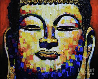 Sangha Painting - Buddha Head by Stephen Humphries