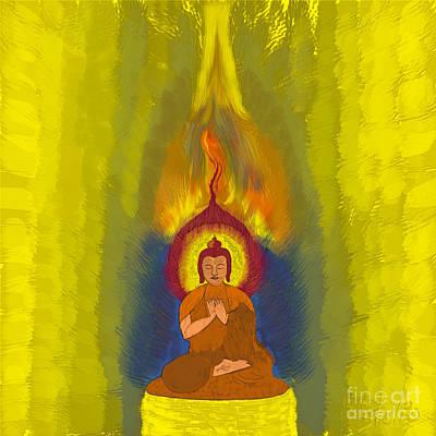 Buddha Print by Stelios Kleanthous