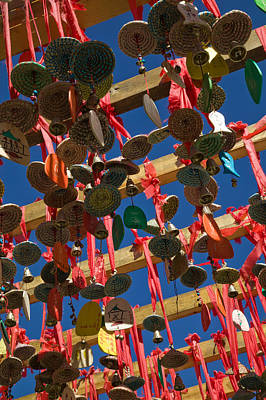 Buddhist Prayer Wishes Ema Hanging Print by Panoramic Images