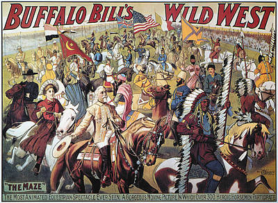 Buffalo Bill Poster, 1908 Print by Granger