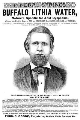 Buffalo Lithia Water, 1890 Print by Granger
