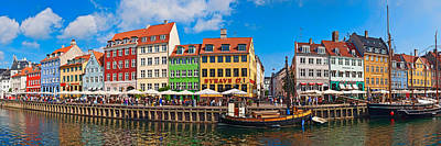 Buildings Along A Canal With Boats Print by Panoramic Images
